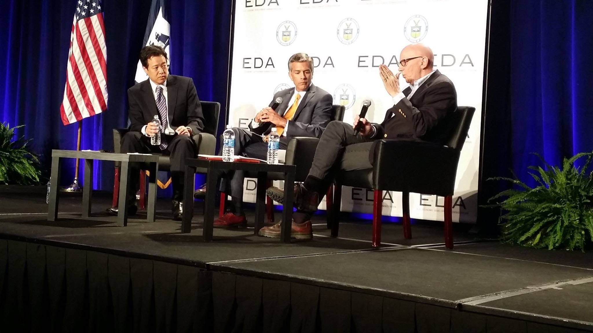 Victor Hwang, the Kauffman Foundation; Tom Guevara, EDA; Henry Doss, Rainforest Strategies.