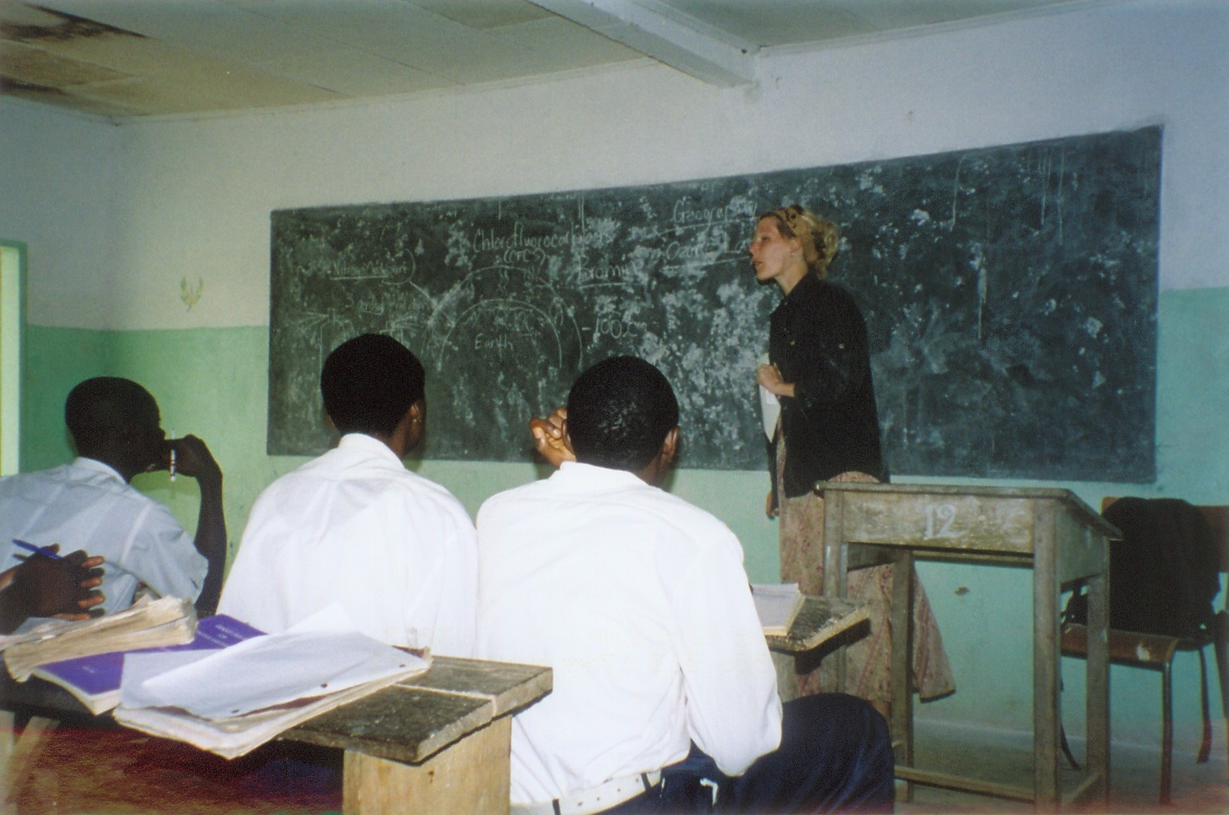 Teaching in Lewah, Cameroon 2003