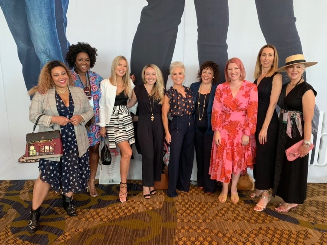 It was so cool to meet each one of these ladies. A few I already knew, but most I didn't. From left to right (with their IG names) @grievy.nyc, @stylenbeautydoc, @everydaysugar, @southernsnippets, @chicover50, @wardrobe_oxygen, @lipglossandcrayons, @mrsmlmode and me.