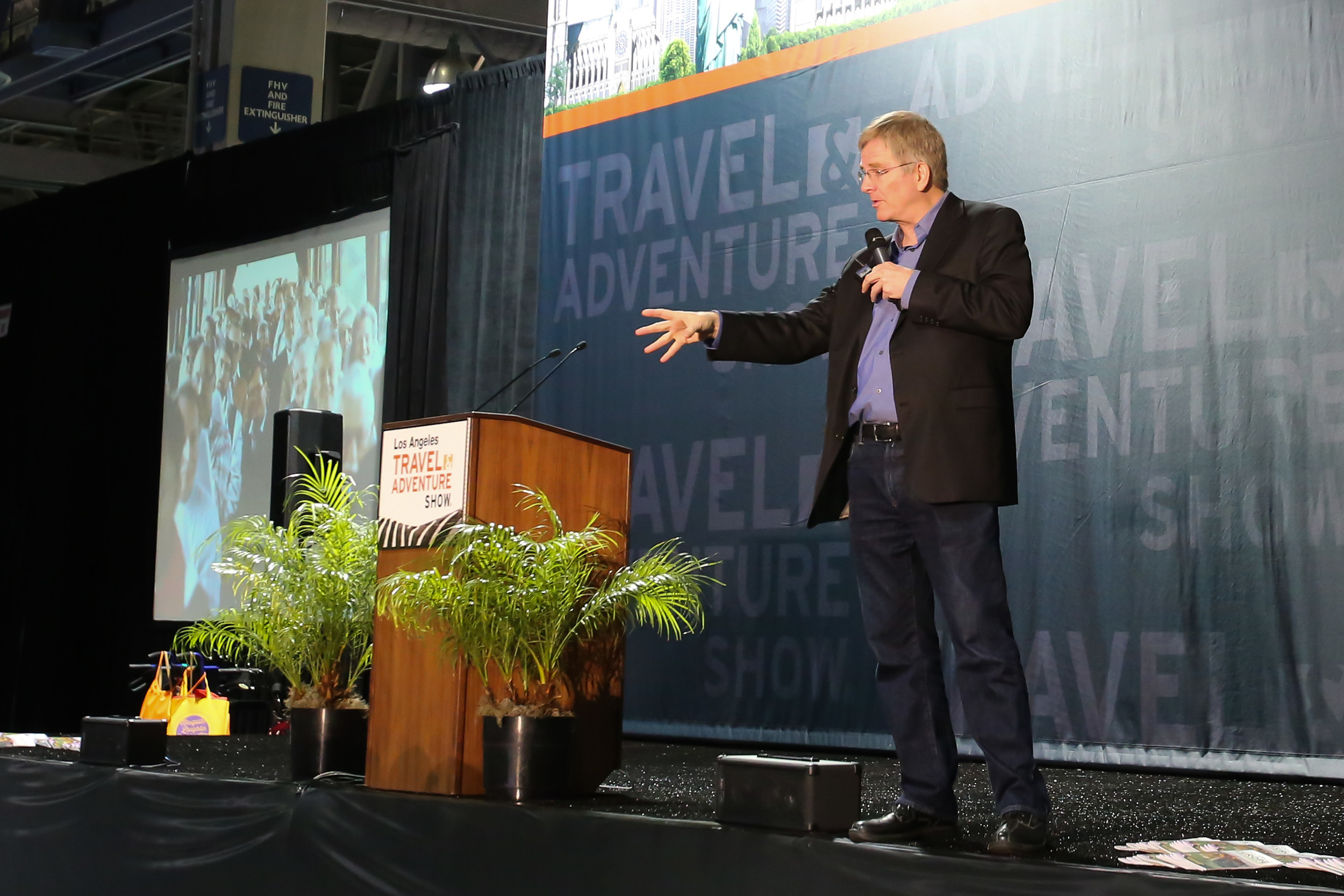 "Rick Steves presents ""Europe Through The Back Door"" at the LA Travel & Adventure Show."