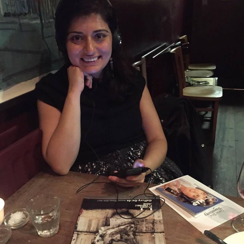 Music journalist and writer Geeta Dayal visiting the Museum, December 2016