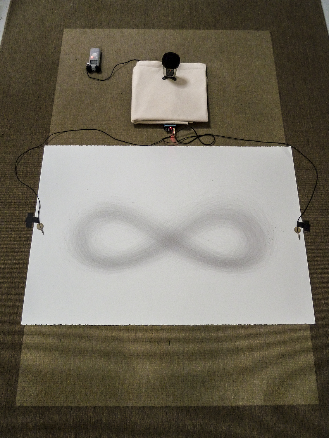 Recording the sound of drawing a lemniscate
