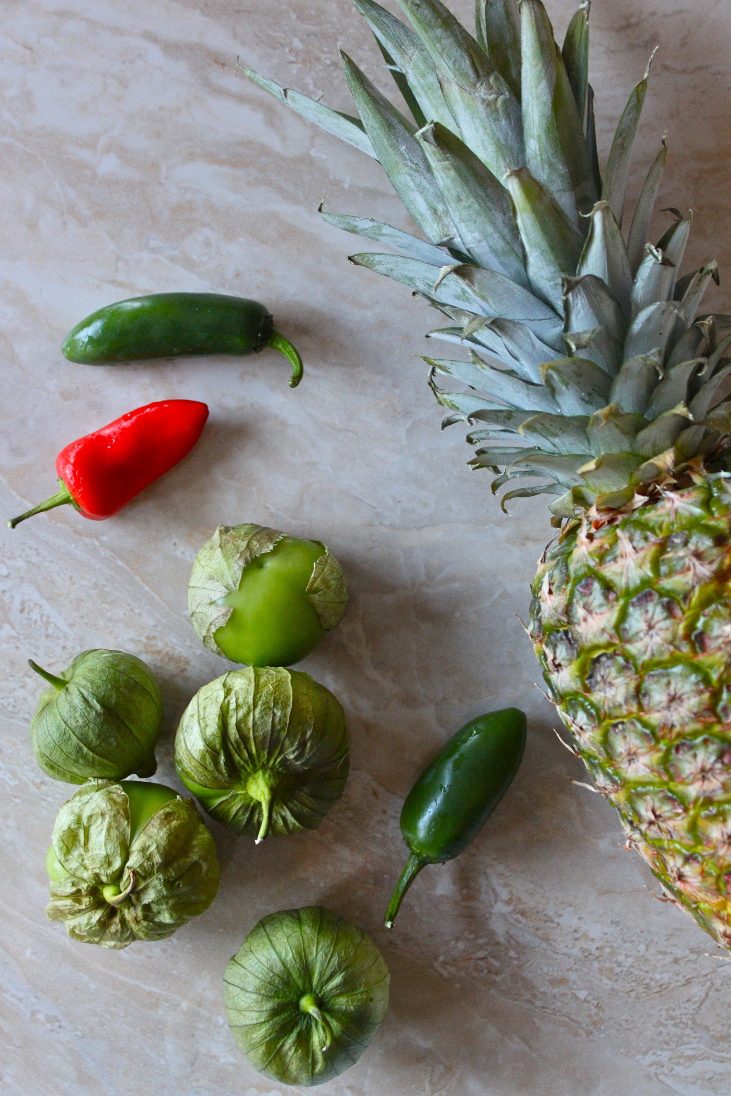 spicy pineapple & roasted tomatillo salsa.jpg