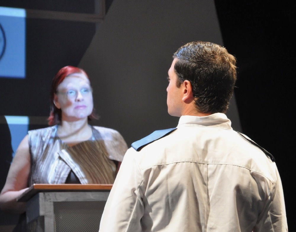 Rehearsal shot from AMERICAN CARNAGE: A LOVE STORY