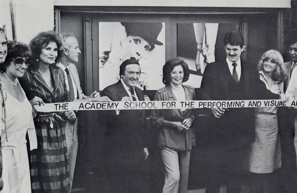 Chicago Academy for the Arts ribbon-cutting in 1981.