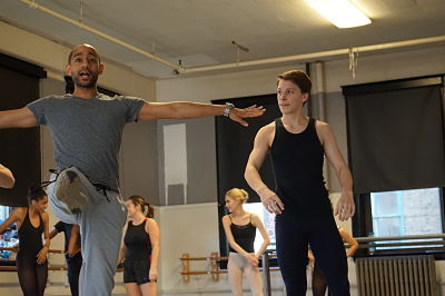 Preston Miller with Dance Students
