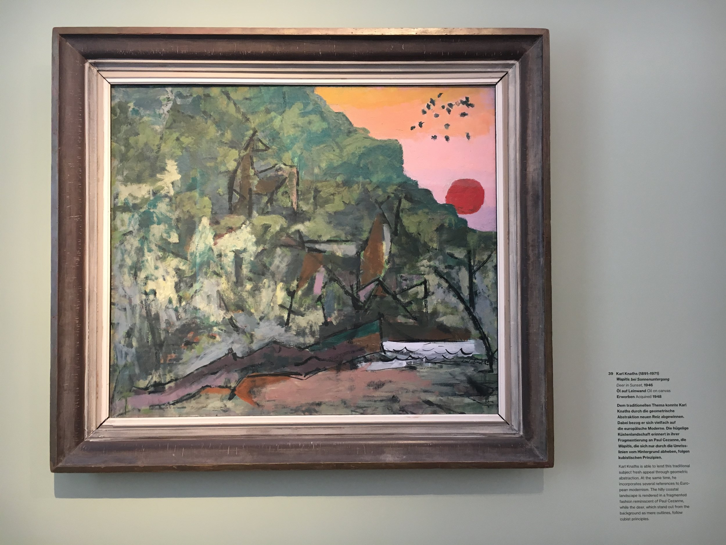 Karl Knaths, Deer in the Sunset.