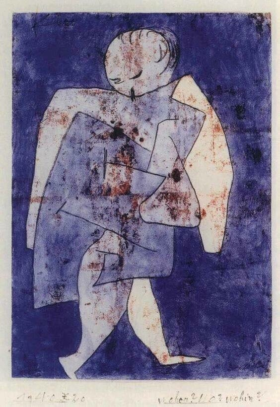 Woher? Wo? Wohin? , Paul Klee, 1940