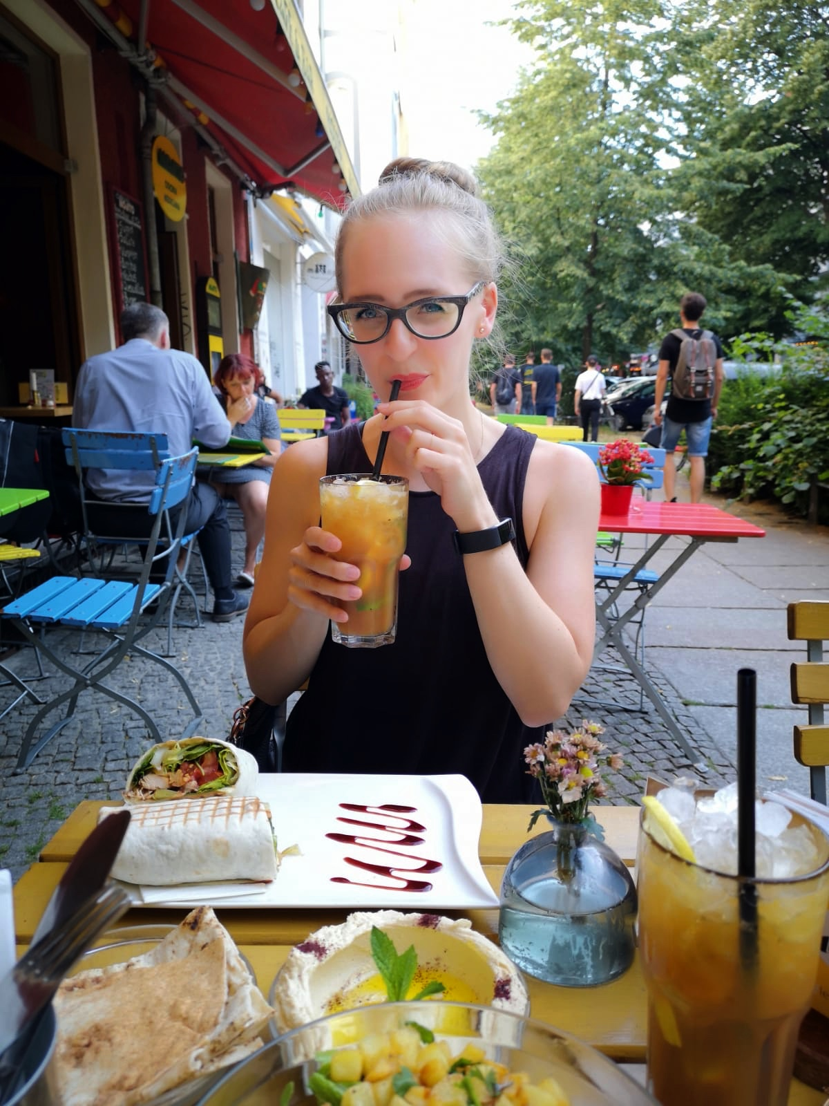 This house-made iced tea with LOADS of fresh citrus and ice saved me from the heat.