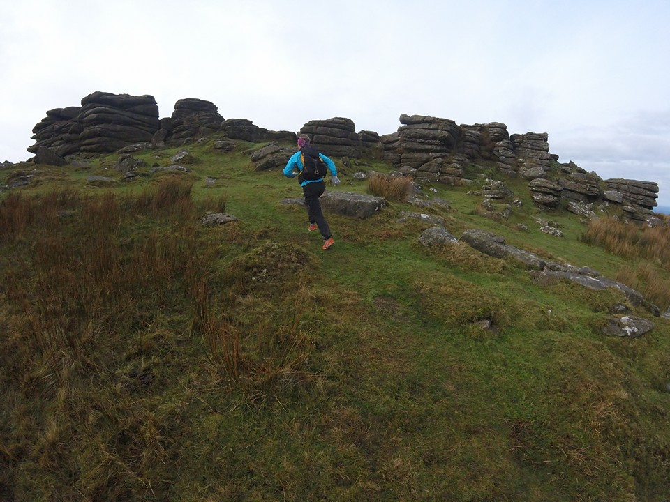 A recce day showing Nicky some of the route I'd been working on,West Mill Tor