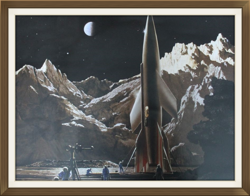 """"""" The Conquest of Space """" by Chesley Bonestell, print limited edition poster, Space art."""