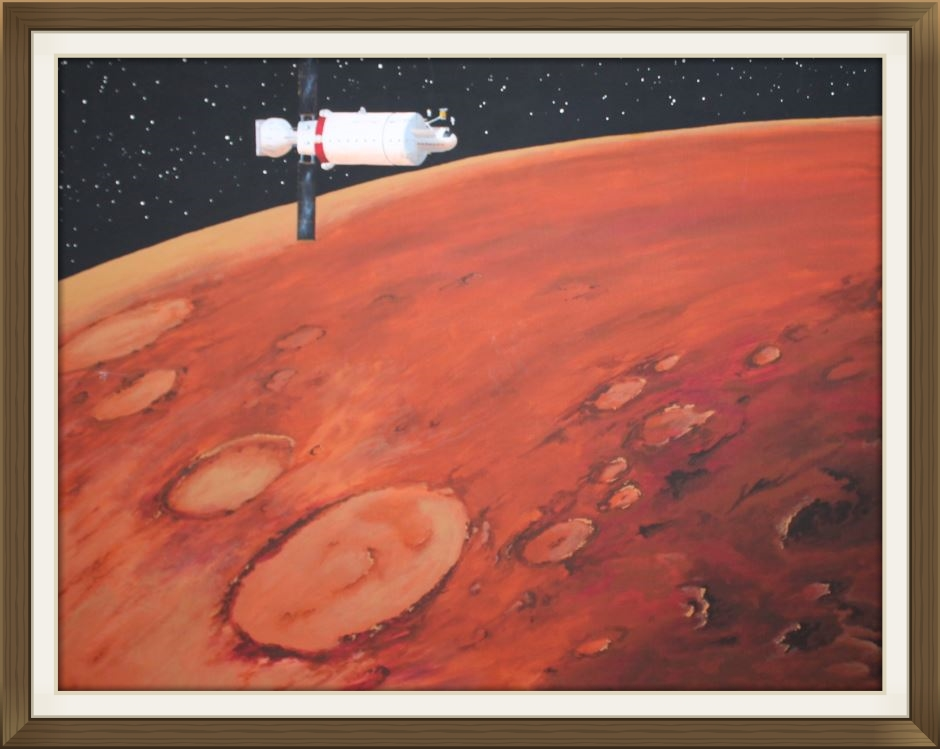 """ Mars Orb  tal "", by Jackie E Burns, Original art work, space art."