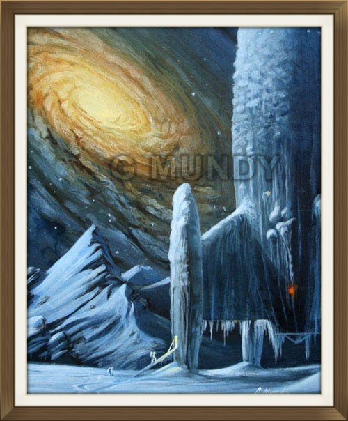 """ Snowbound "", by Gavin Mundy, original art work, science fiction art."