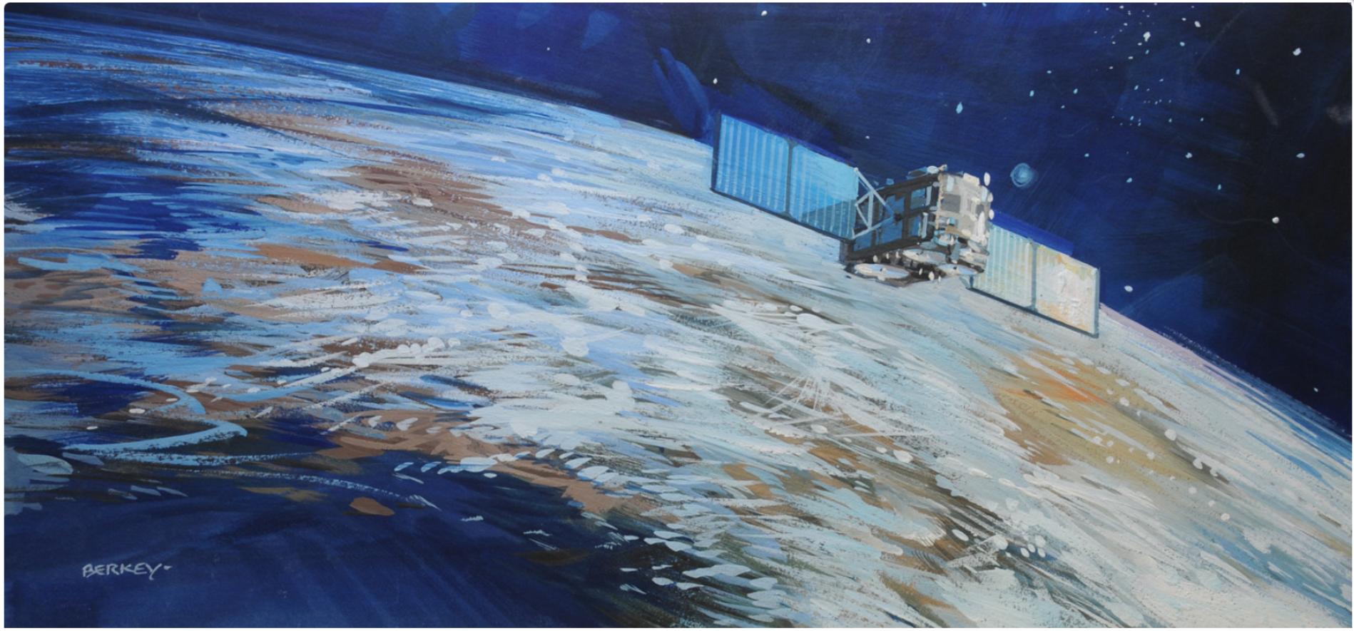 """American Satellite Company"" , by John Berkey"
