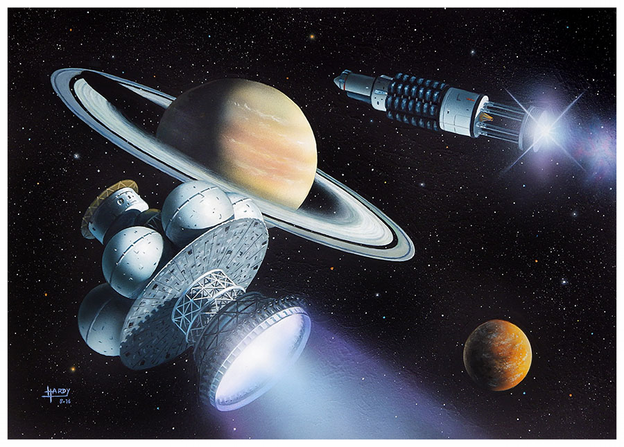 """"""" The Dance of Angels """", David A Hardy, based on the short SF story by Kelvin F.Long"""