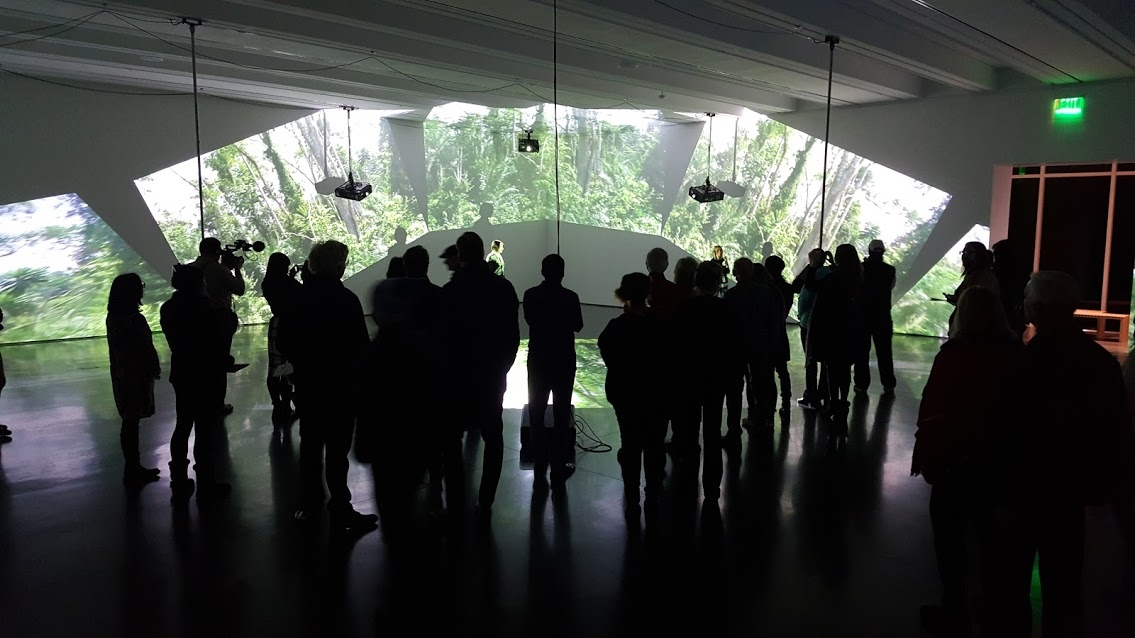 Binary Artists responsible for Diana Thater's installation at the Aspen Museum of Art.