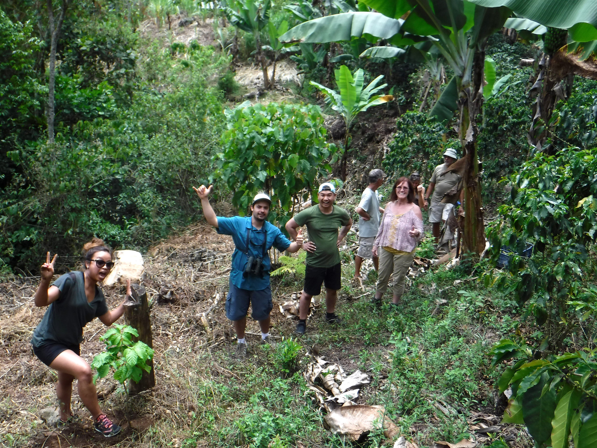 Having fun planting native endangered trees for the reforestation project we are a part of. -