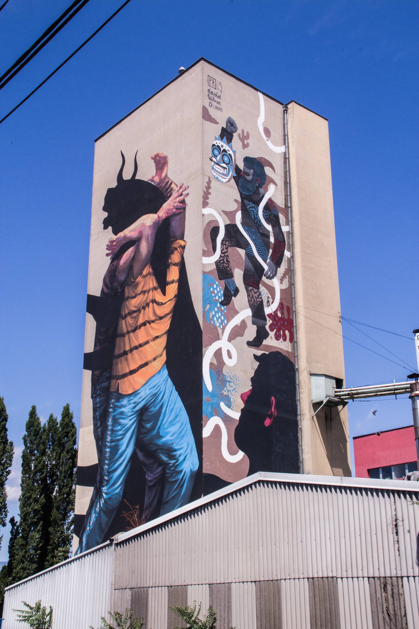 Livin' Streets Festival  (right wall, together with Paul Riedmüller) Graz 2015