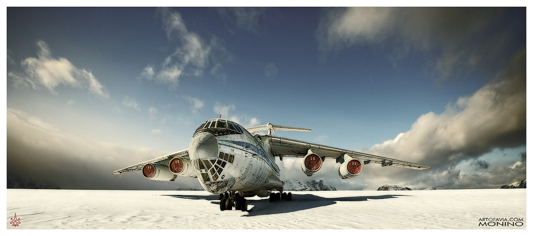 Ilyushin Il-76 Art of Avia Central Air Force Museum Monino