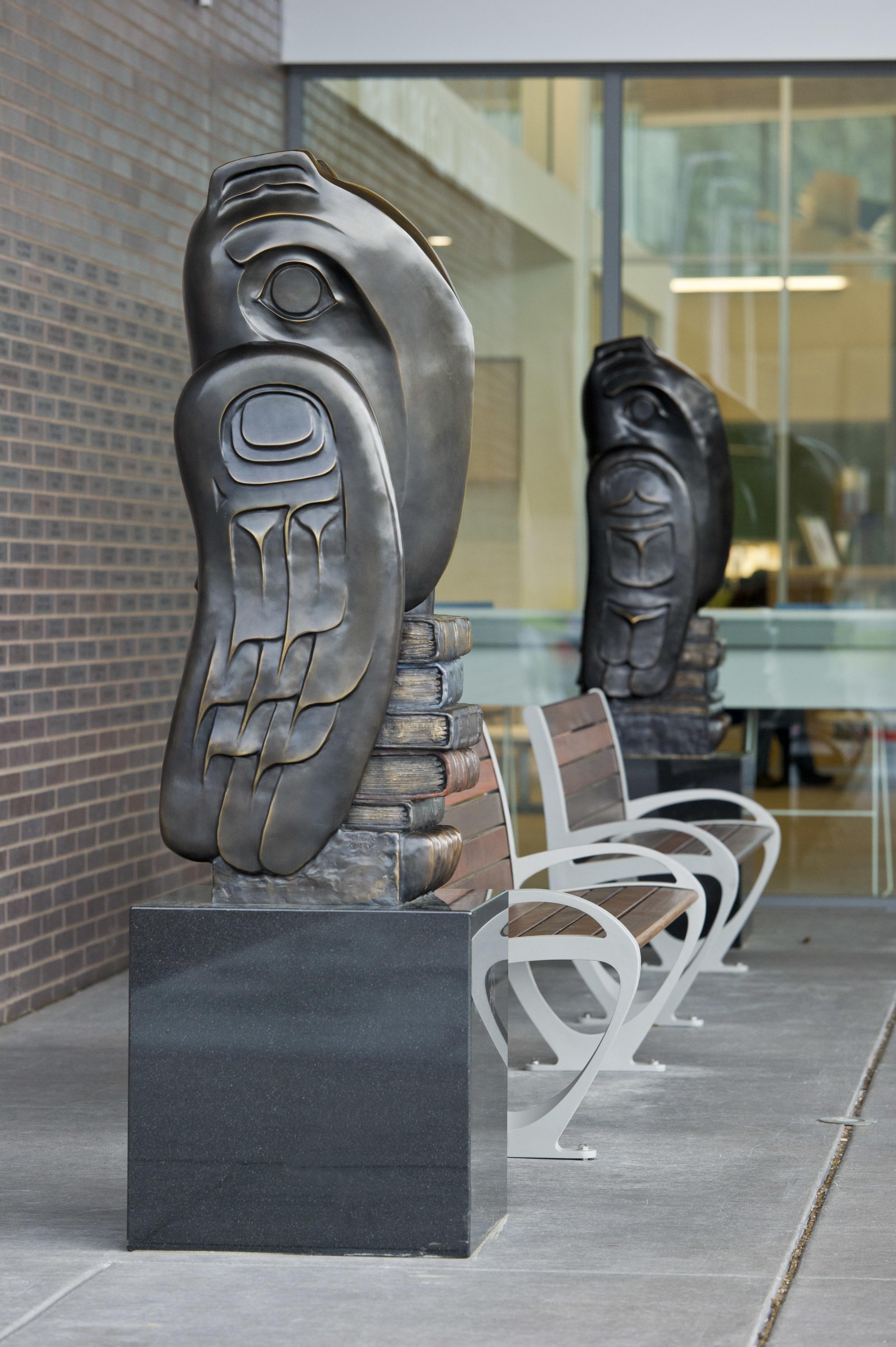 """Wisdom"" 2015 Bronze, 4.5', Mendenhall LIbrary Juneau, Alaska"