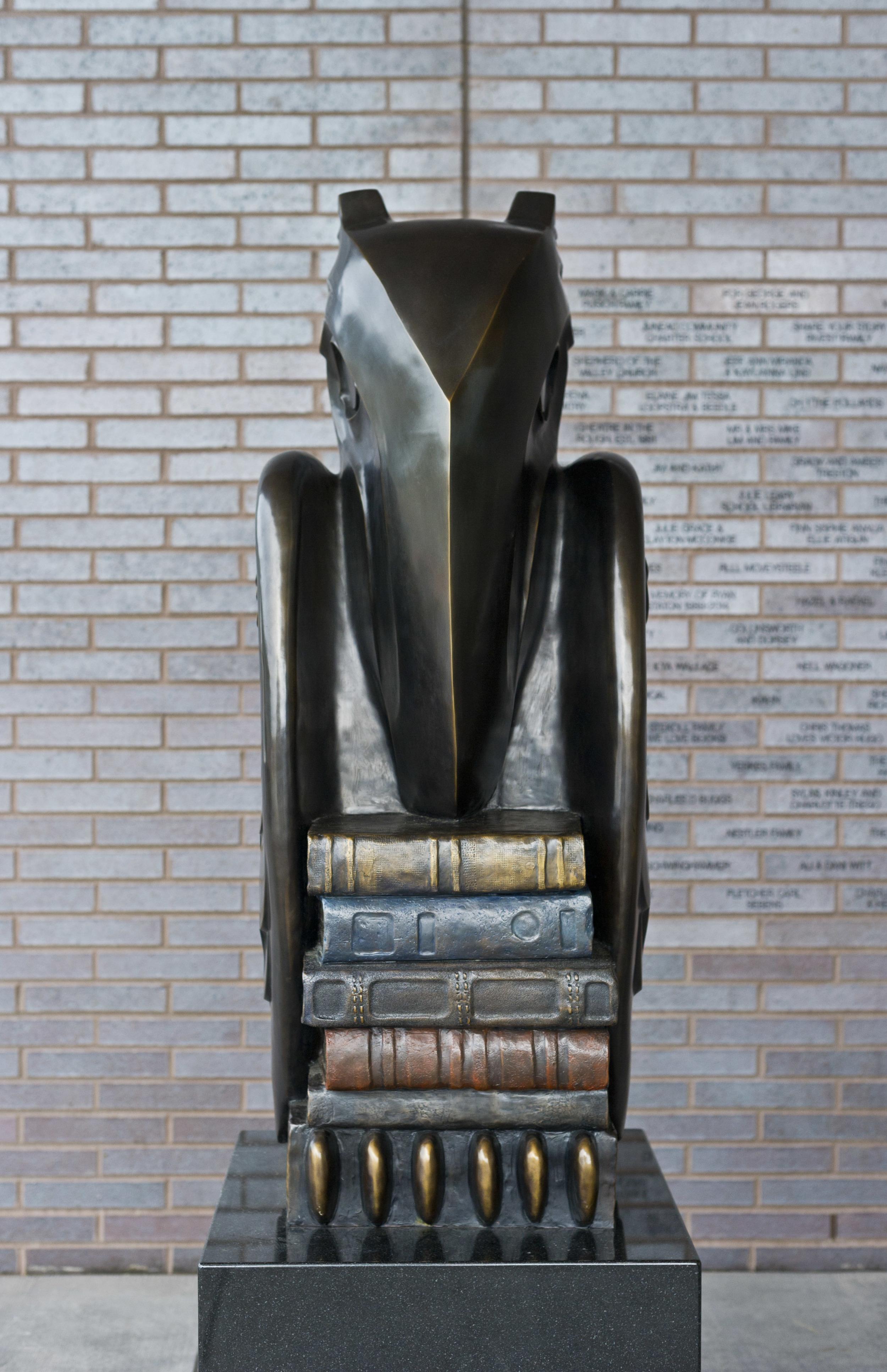 """Wisdom"" Raven, 2015 Bronze Contemporary Alaskan design based on traditional Tlingit"