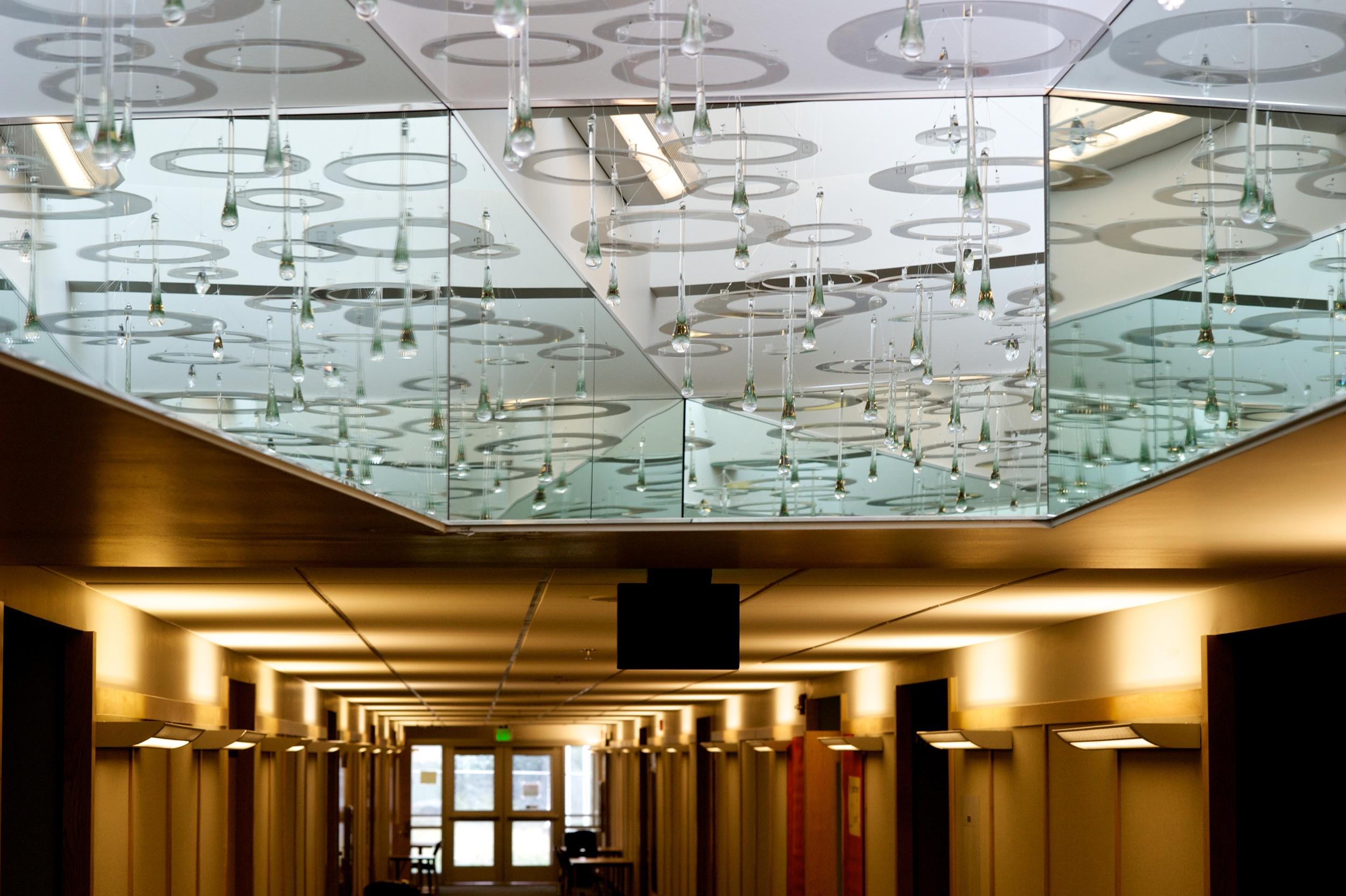 """Raindrops"" Glass and acrylic, 2015  Gastineau Elementary photos Michael Penn"