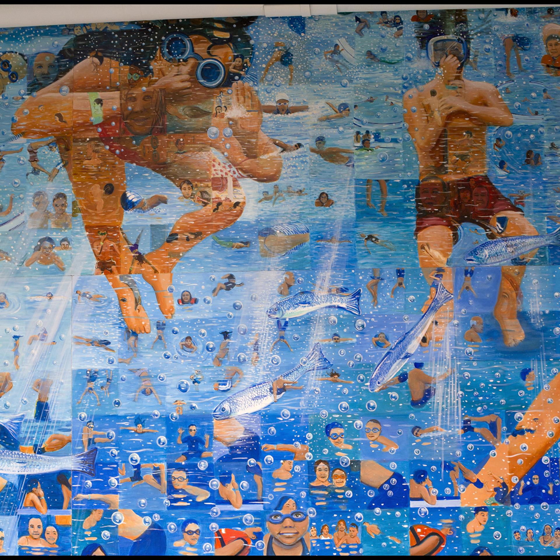 """""""Underwater Mosaic"""" detail"""