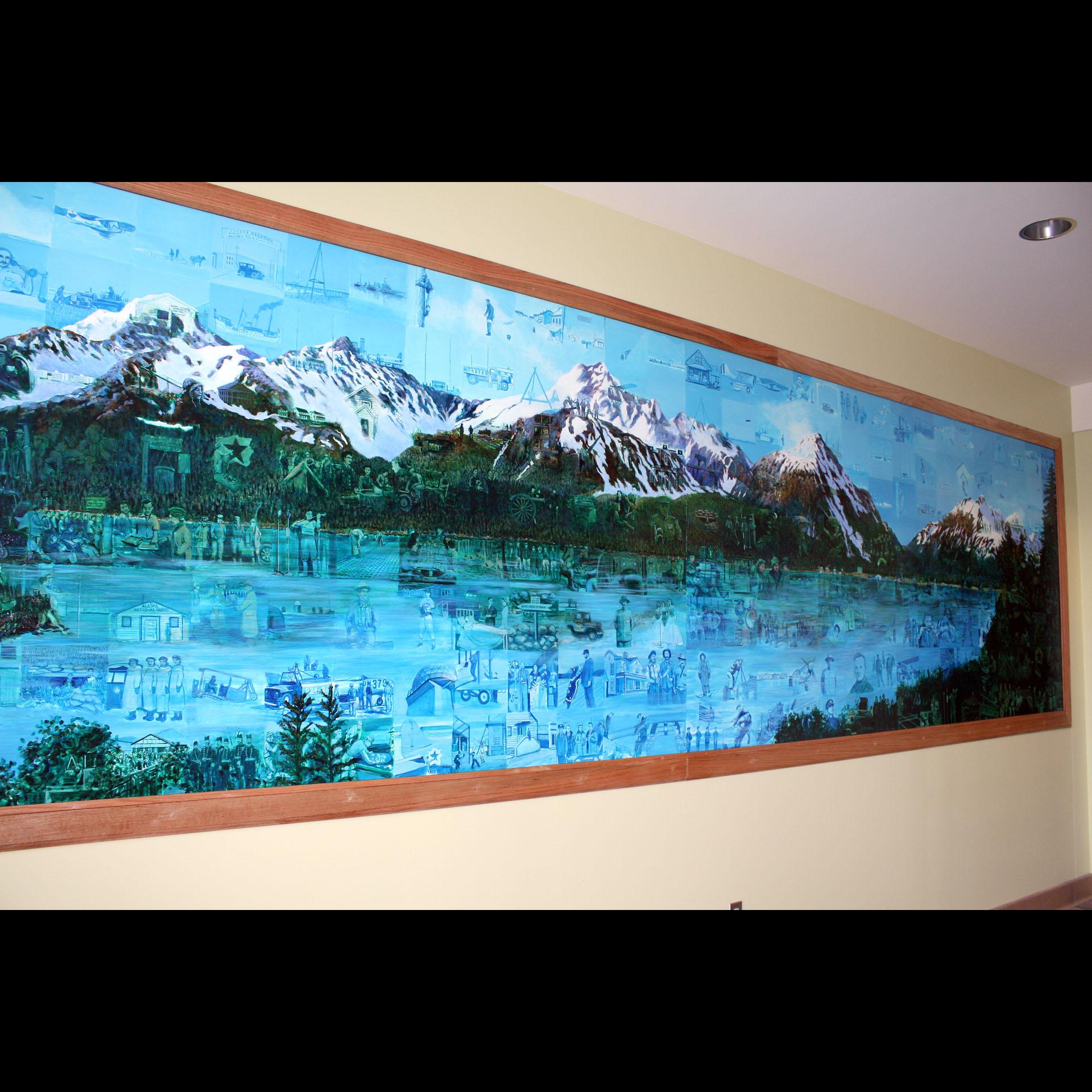 """""""Military History of Alaska"""", 2009, acrylic on aluminum, VA Clinic Anchorage"""