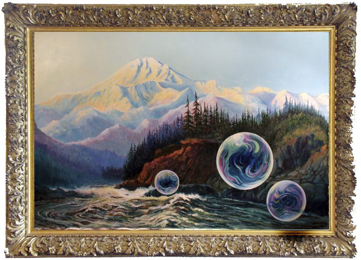 """Methane, Susitna"" 4'x6' oil"
