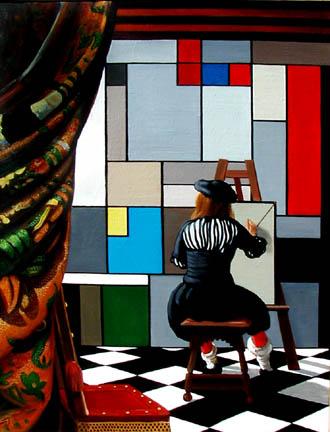 """""""Visionary"""" 2000, acrylic"""