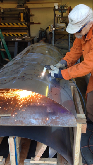 """Plasma Cutting stainless steel for """"Enchanted Forest"""", Girdwood Elementary."""