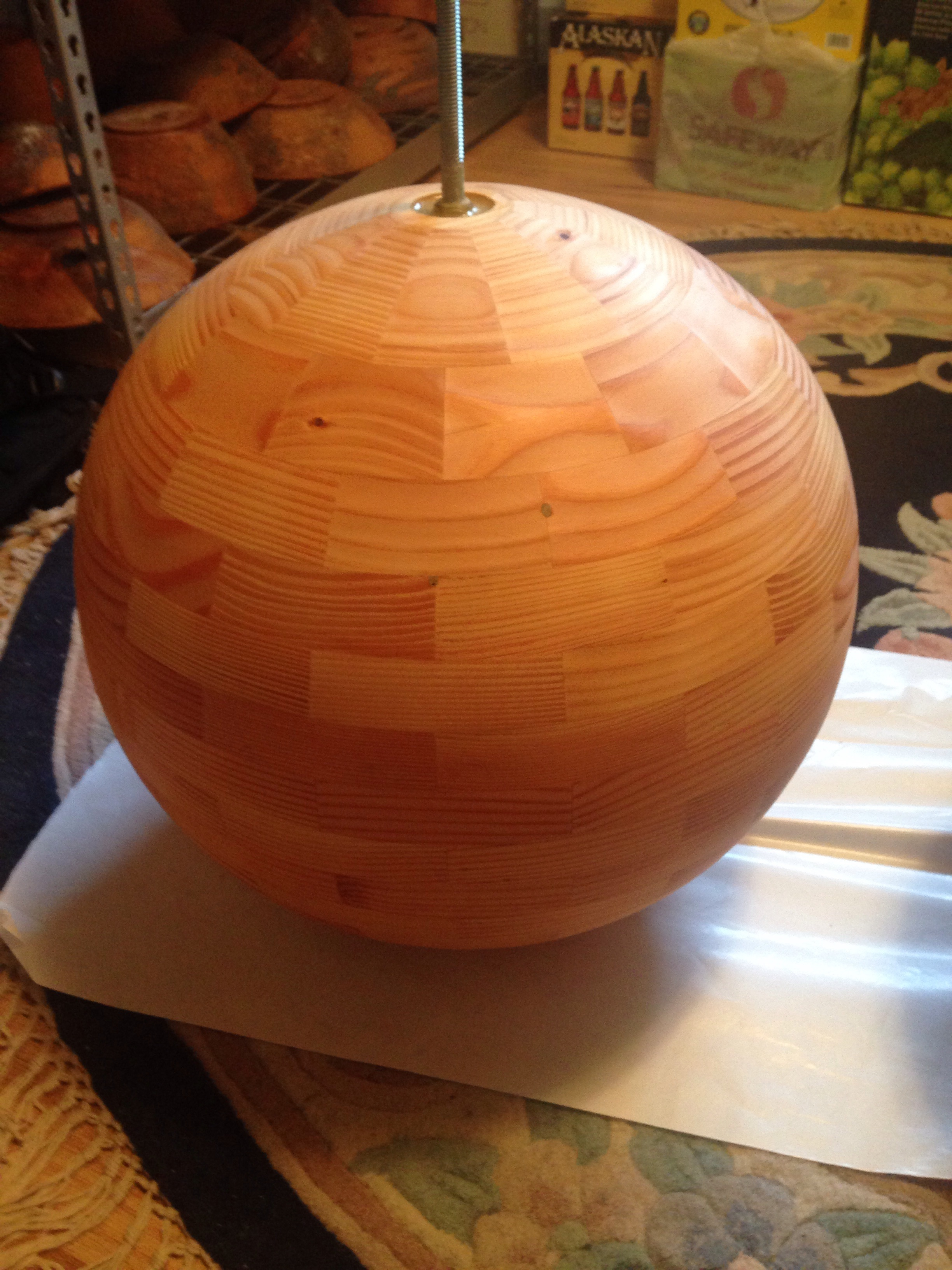 """Finished sphere, 18"""" diameter"""