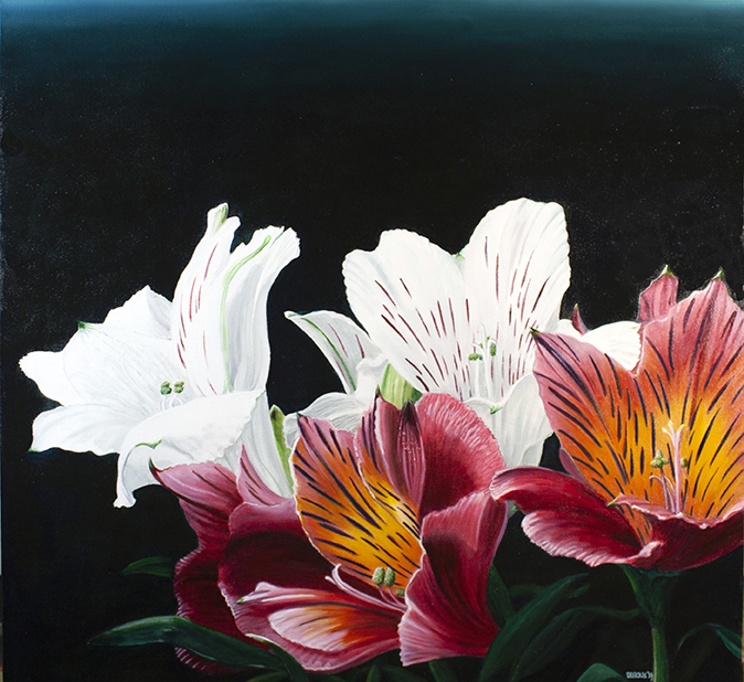 LILLIES 3'x3', 2019, OIL ON CANVAS $2,000 SOLD!