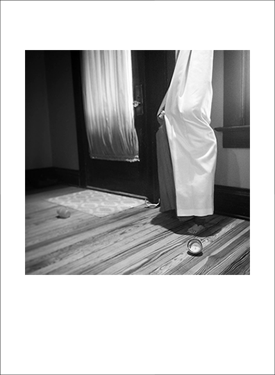 "Lucy. Peek-A-Boo. 1-10-17, 2017,   ©   Jessie Paige Rowe .  Archival Inkjet Print. 4.5"" x 4.5"" image on 5.5"" x 7.5"" paper. Printed on Hahnemuhle Photo Rag Satin, 310 gsm 100% Cotton, white, satin-finish. Signed."