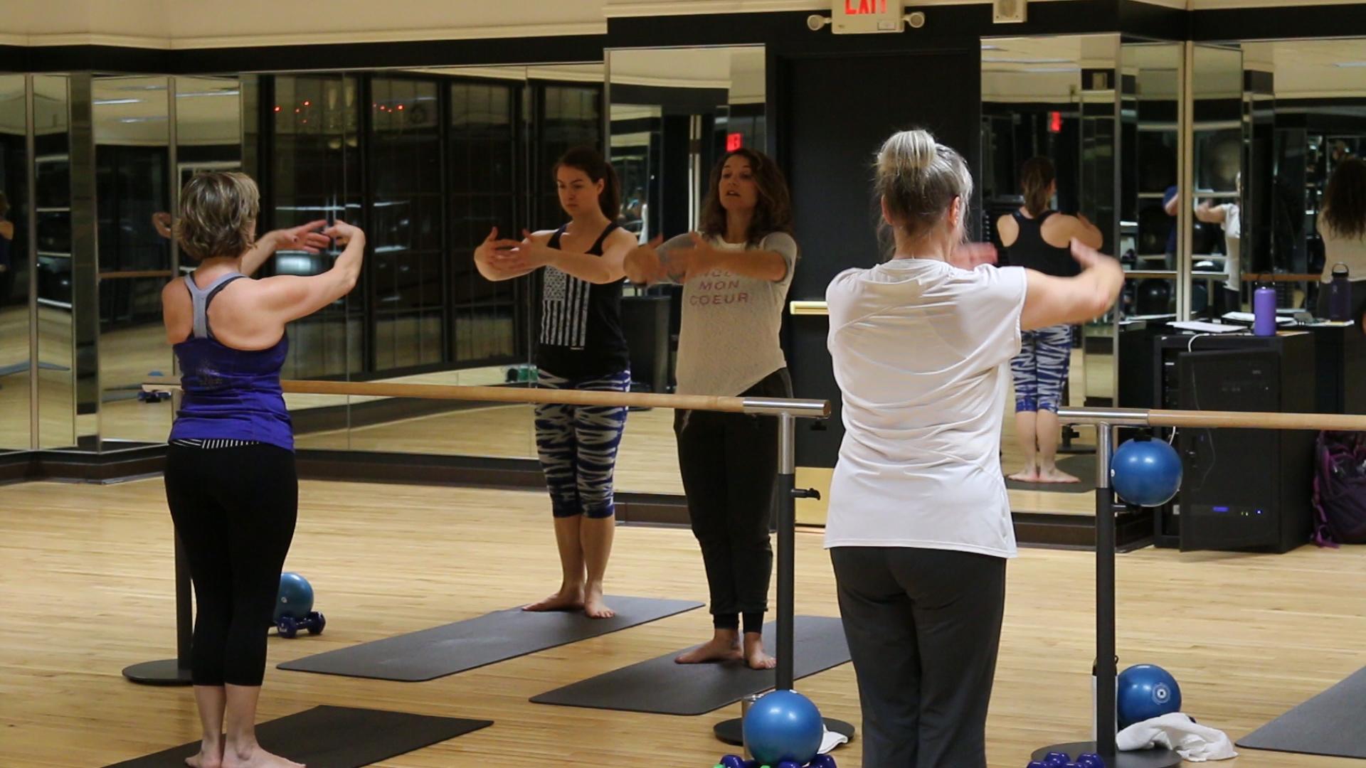 Total Barre Group Fitness Class Saint Paul Athletic Club Downtown Minnesota