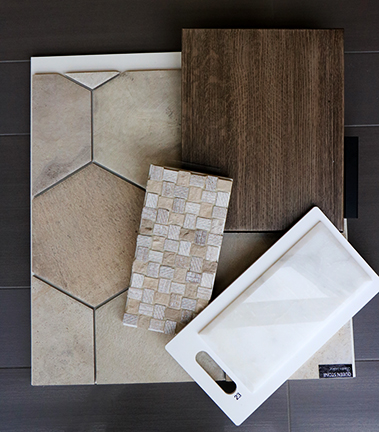 Ethnic Chic Kitchen Materials - Meridian Abbey Interiors - Indianapolis, IN