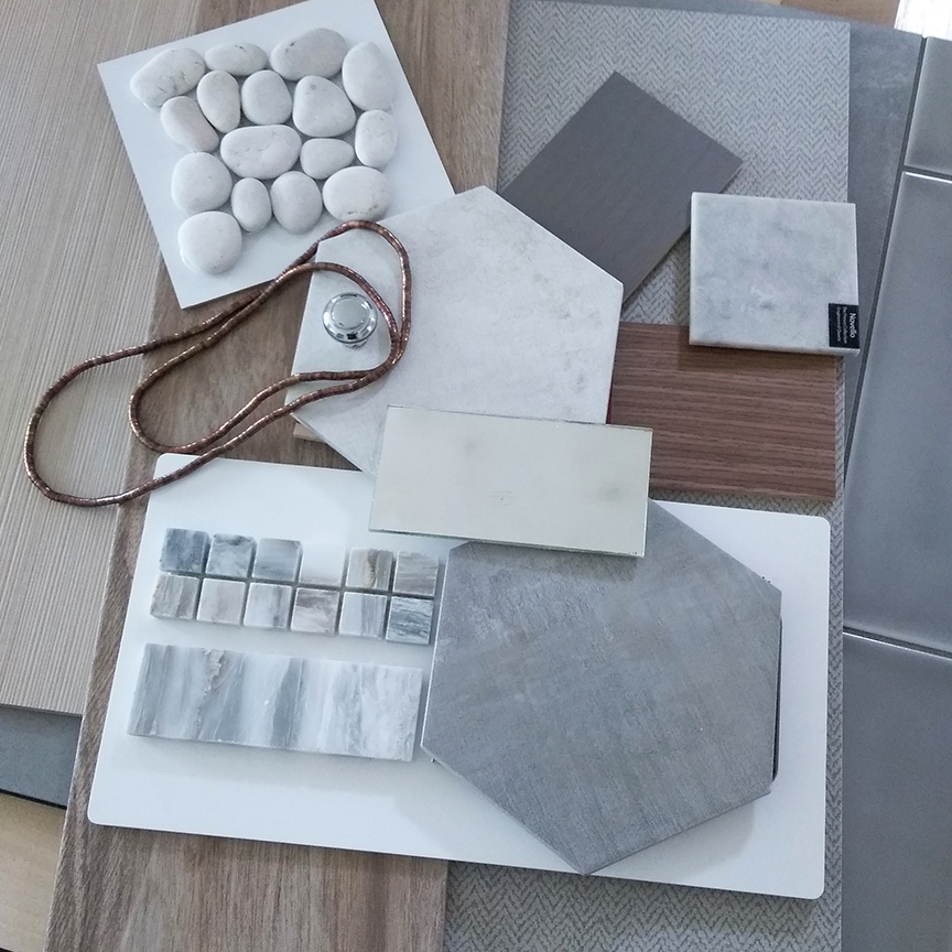 Master Bathroom Concept Materials - Meridian Abbey Interiors - Indianapolis, IN