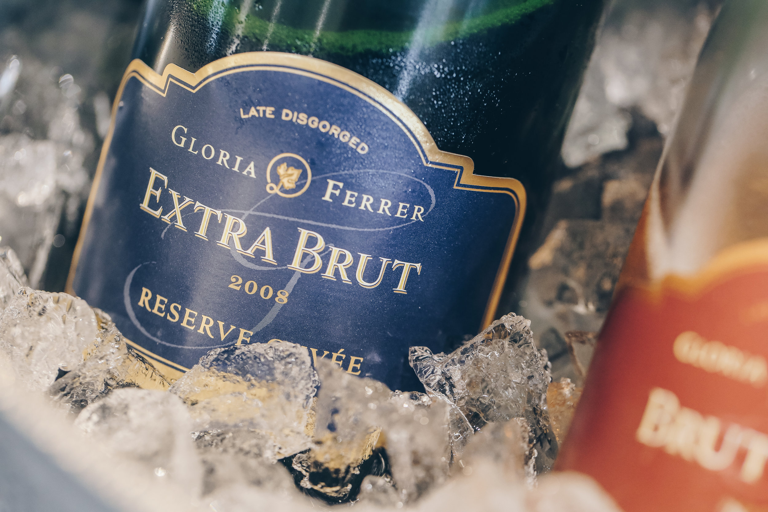 Gloria Ferrer 2008 Extra Brut - this award winning wine bursts with crisp,bright flavors. With hints of apple and ginger to cleanse the palate, the Extra Brut is everything you could ask for out of a traditional sparkling wine.