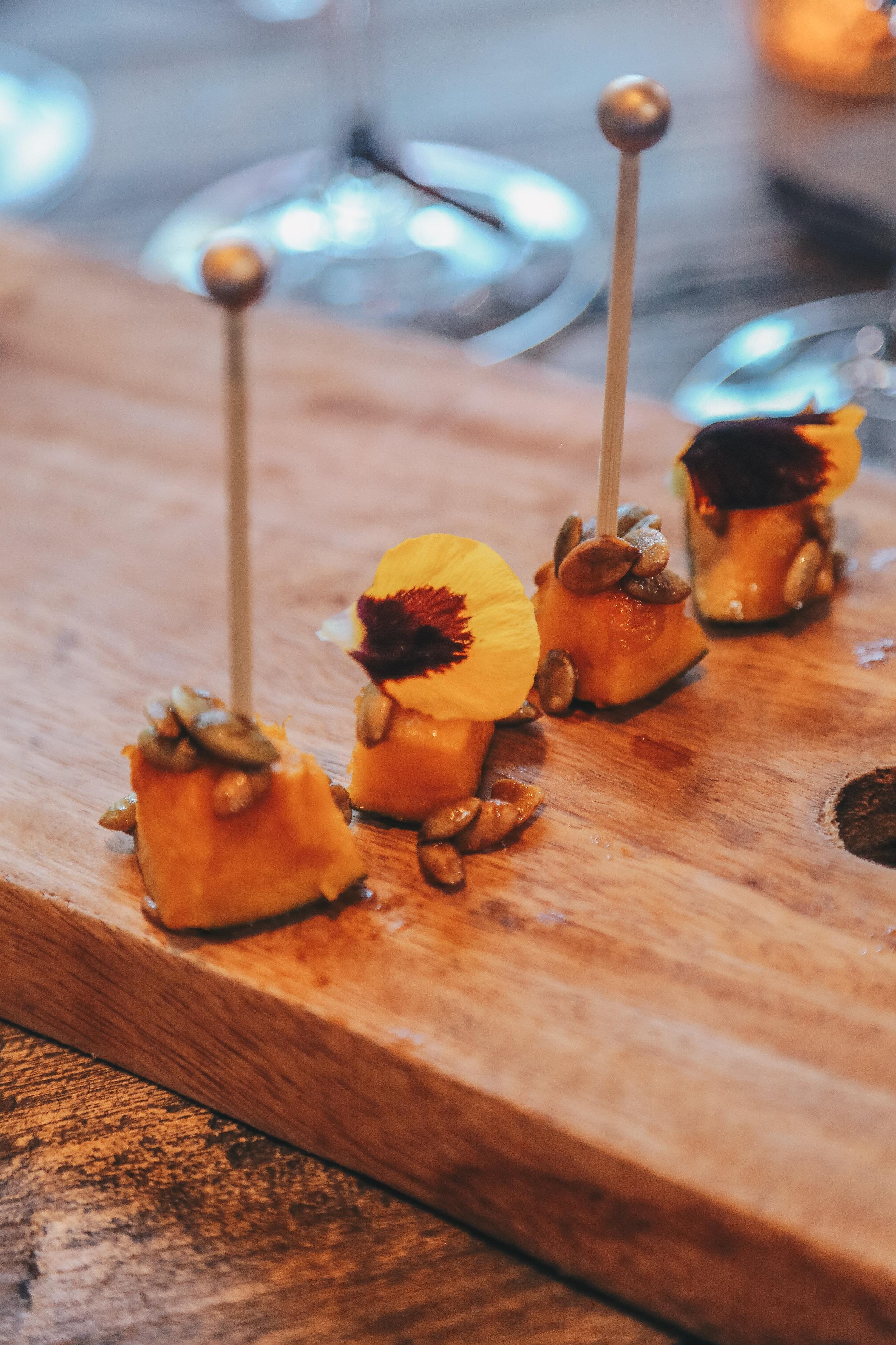 Roasted Kabocha Squash, Balsamic Glaze & Toasted Pepitas  (Part of the Seasons in Sonoma Tasting)