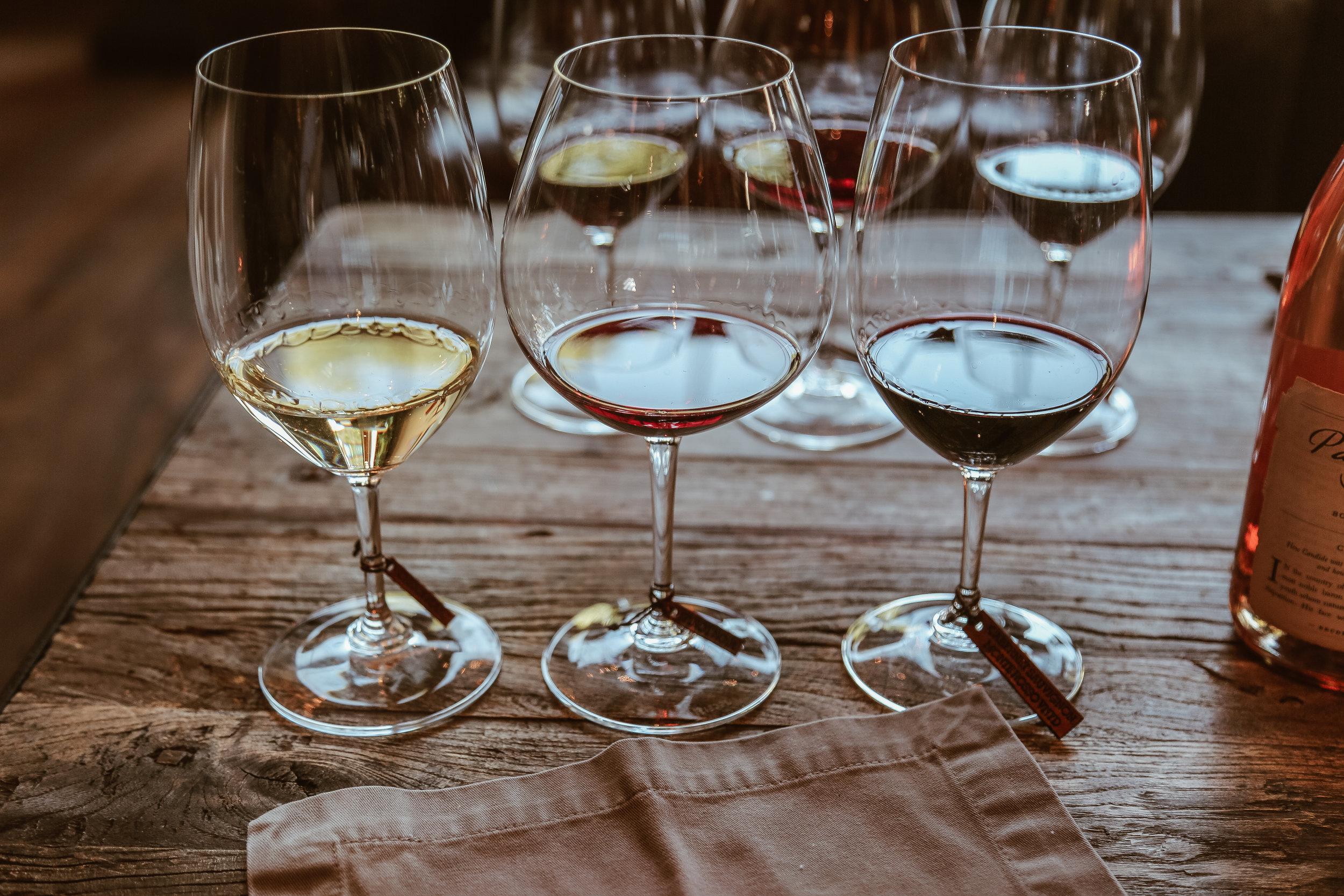 Wine Pairings for the Seasons in Sonoma Tasting - 2015 Chenin Blanc| 2014 Pinot Noir | 2013 Cabernet Sauvignon, Monte Rosso Vineyard