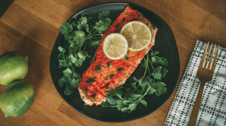 Sweet Chili Lime Bake Salmon