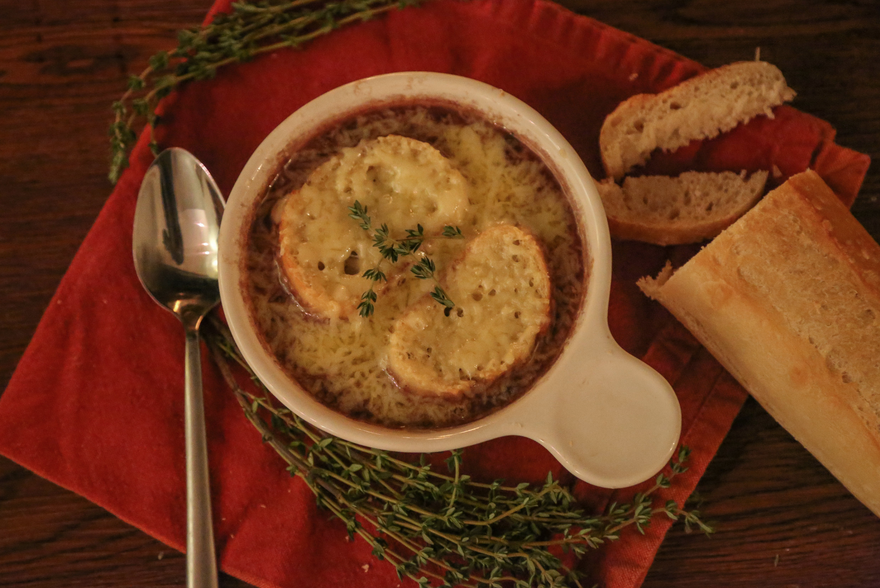 Bistro style french onion soup