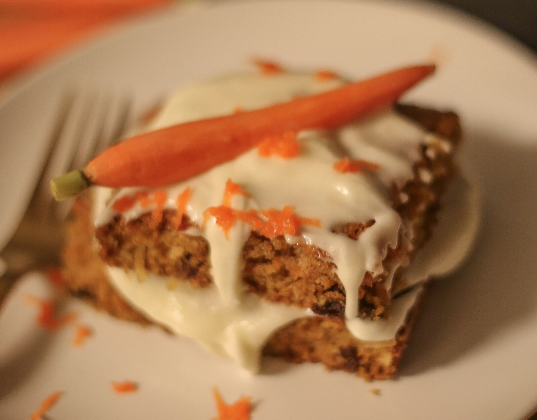 carrot cake with homemade frosting
