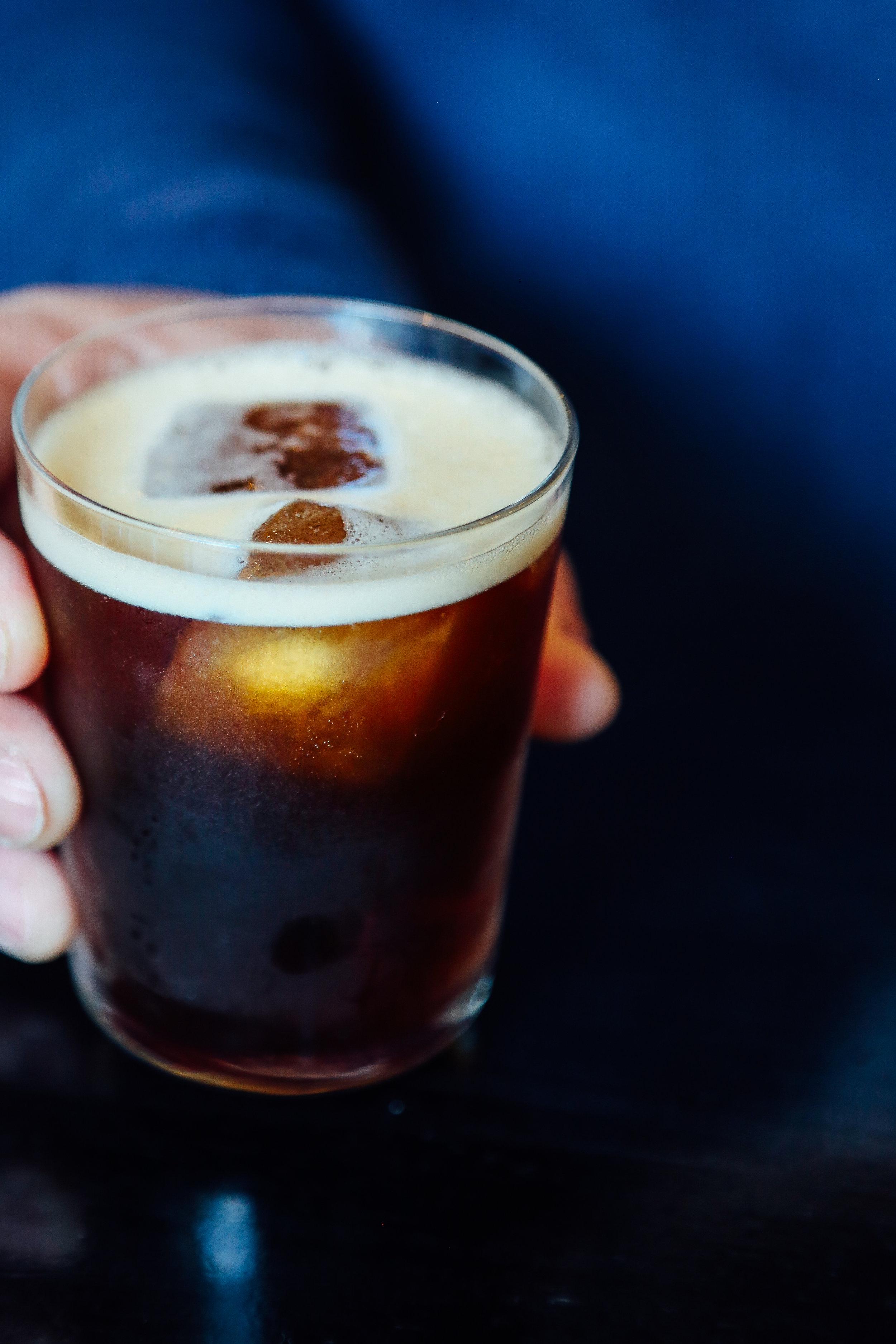 icy hot - Cold brew, bourbon, cynar, montenegro