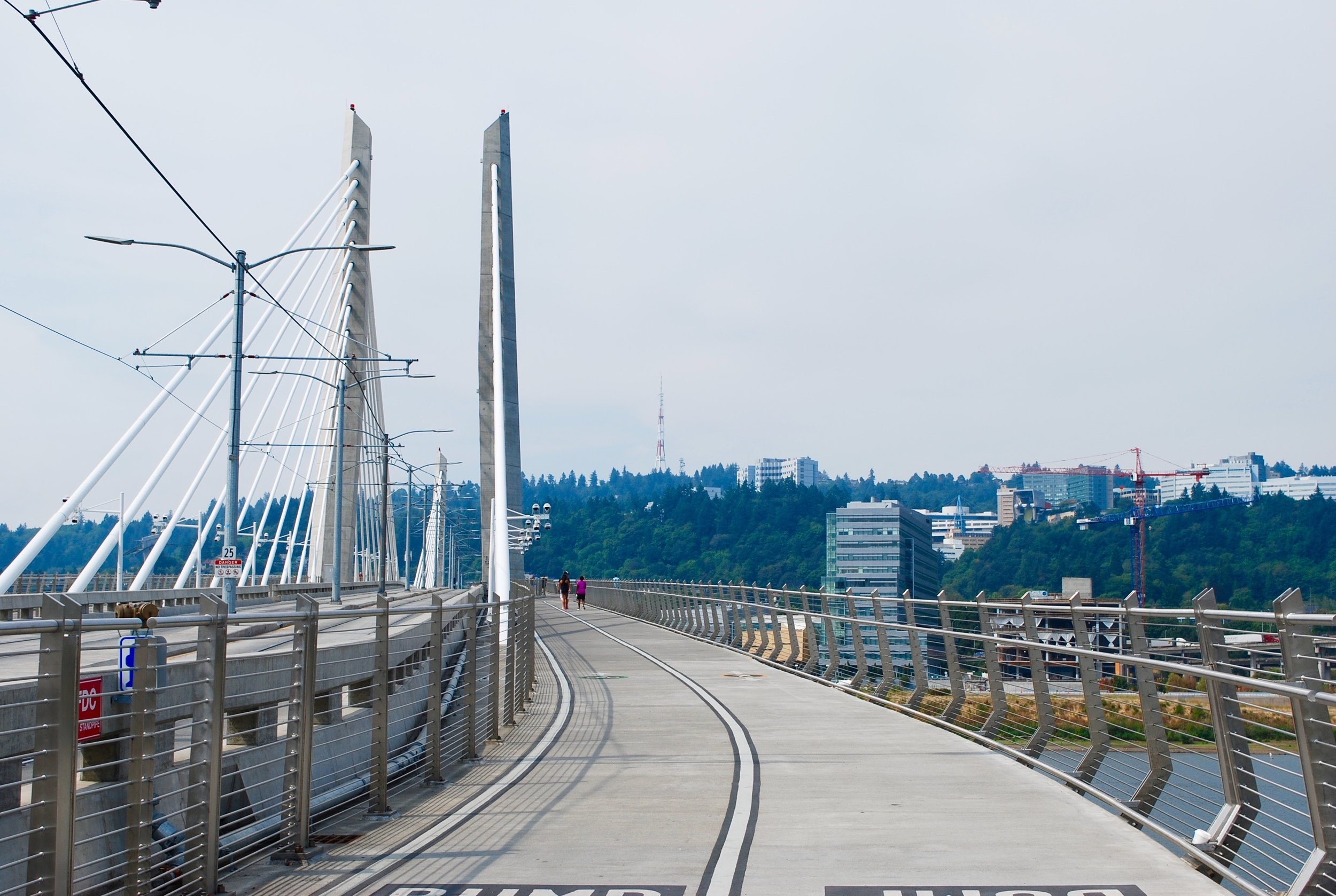 Tilikum Crossing, Bridge of the People.Portland, Oregon. 2017