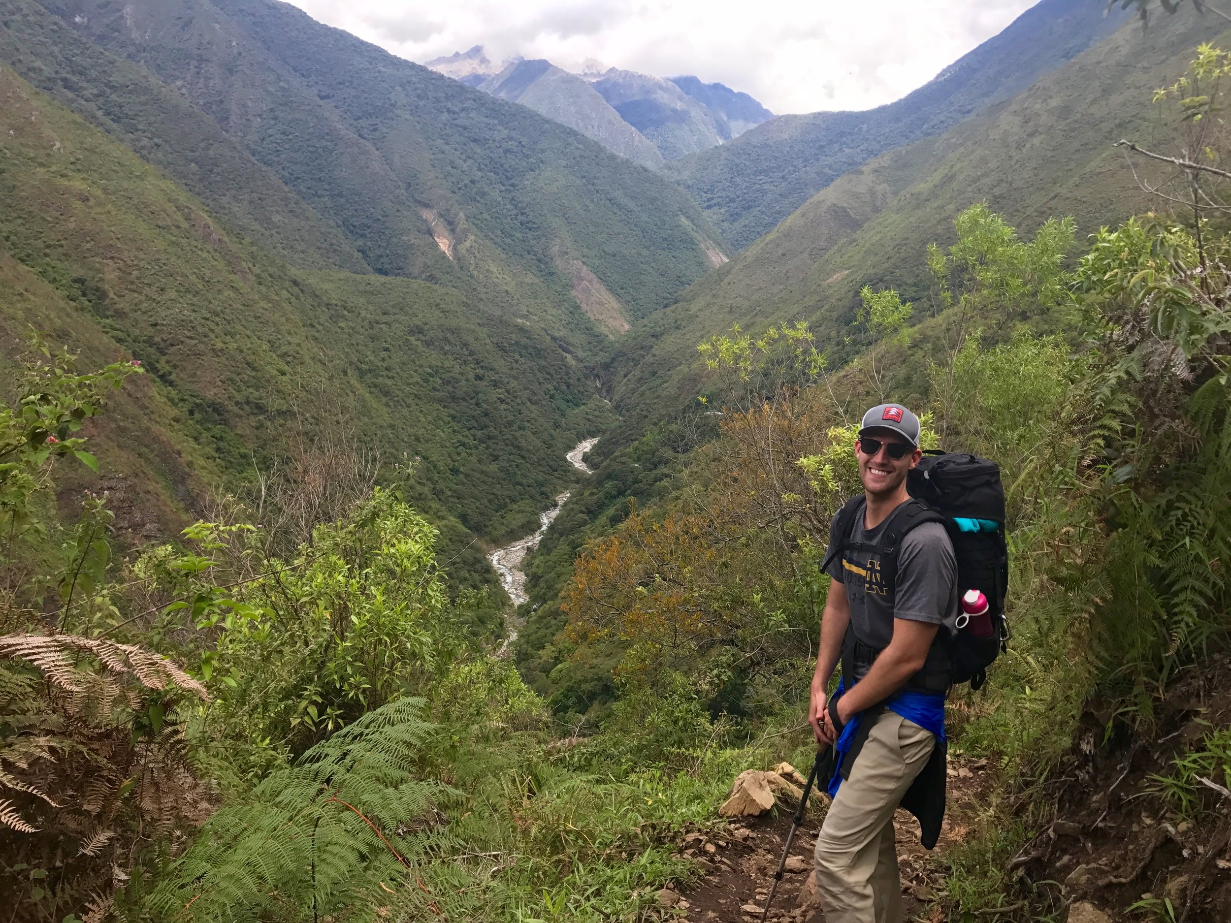 Descending down the Llactapata trail, Salkantay Trek, Peru 2017