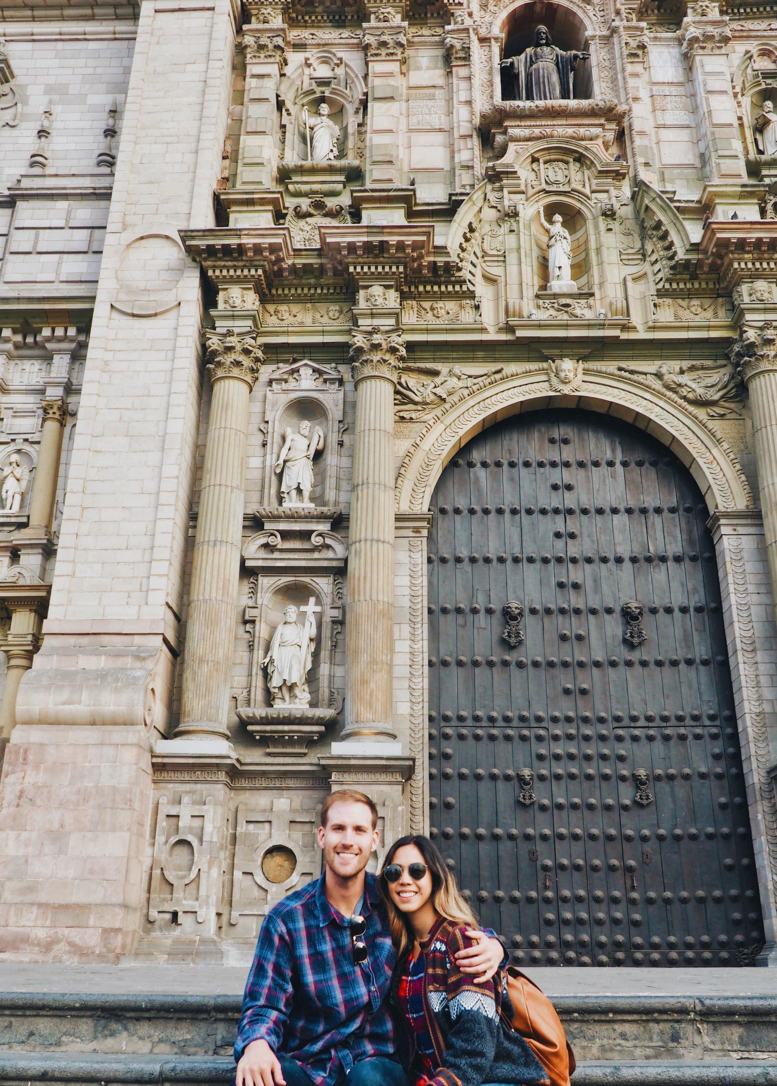 Basilica Cathedral, Plaza de Armas of Lima, Peru