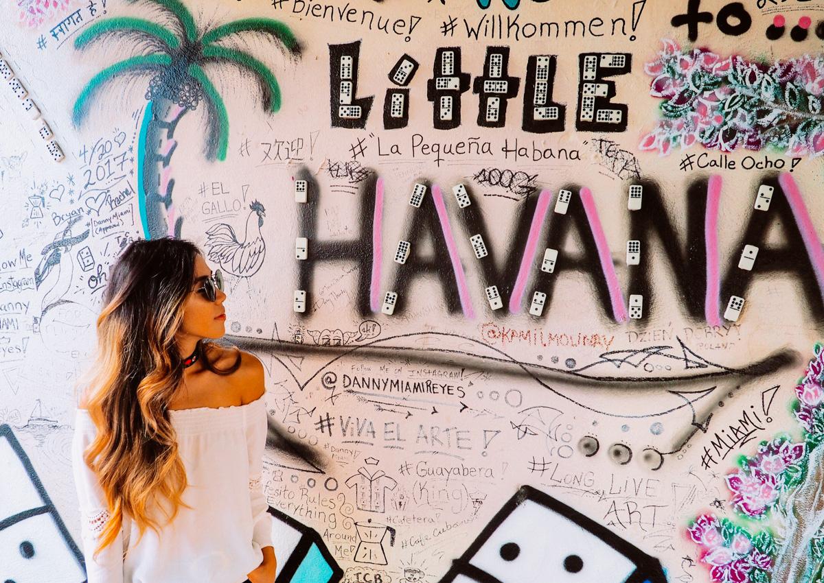 An art mural in Little Havana, Miami, FL.