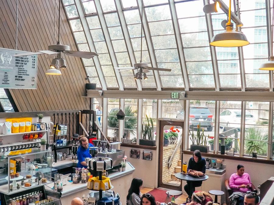 locals at press coffee shop san antonio