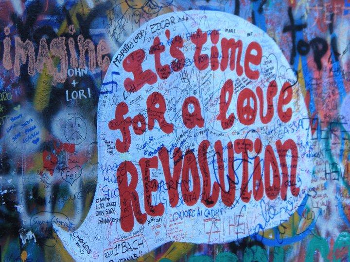 Lennon Wall, Prague, April 2011